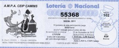 LOTERIA DE NADAL 2011