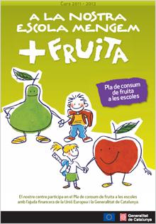 A la nostra escola mengem +fruita